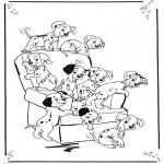 Ausmalbilder Comicfigure - 101 Dalmatiner 1