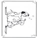 Ausmalbilder Comicfigure - 101 Dalmatiner 3