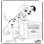 Ausmalbilder Comicfigure - 101 Dalmatiner 6