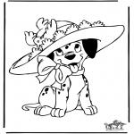 Ausmalbilder Comicfigure - 101 Dalmatiner 7
