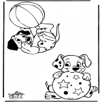 Ausmalbilder Comicfigure - 101 Dalmatiner 9