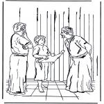Bibel Ausmalbilder - 12 jähriger Jesus