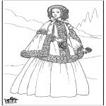 Allerhand Ausmalbilder - 19. Jahrhundert Frau 1