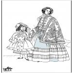 Allerhand Ausmalbilder - 19. Jahrhundert Frau 2