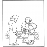 Bibel Ausmalbilder - 5 Brote und 2 Fische 1