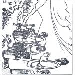 Bibel Ausmalbilder - 5 Bröte und 2 Fische 2