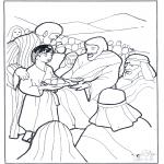 Bibel Ausmalbilder - 5 Brote und 2 Fische 3