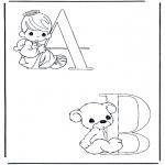 Allerhand Ausmalbilder - A und B