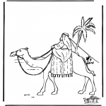 Bibel Ausmalbilder - Abraham in Ägypten