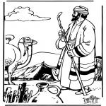 Bibel Ausmalbilder - Abram und Sarah