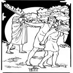 Bibel Ausmalbilder - Adam und Eva