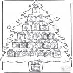 Ausmalbilder Weihnachten - Adventskalender