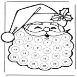 Ausmalbilder Weihnachten - Adventskalender Weihnachtsmann