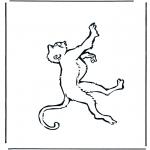 Ausmalbilder Tiere - Affe1