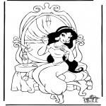Ausmalbilder Comicfigure - Aladdin 7
