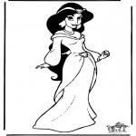 Ausmalbilder Comicfigure - Aladdin 9