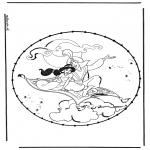 Basteln Stickkarten - Aladdin basteln