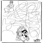 Malvorlagen Basteln - Aladdin Labyrinth