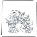 Ausmalbilder Comicfigure - Alice im Wunderland 1