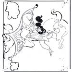 Ausmalbilder Comicfigure - Alladin 1