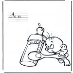 Allerhand Ausmalbilder - Alphabet A