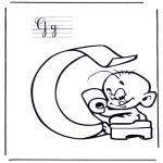 Allerhand Ausmalbilder - Alphabet G