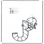 Allerhand Ausmalbilder - Alphabet J