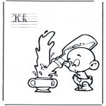 Allerhand Ausmalbilder - Alphabet K