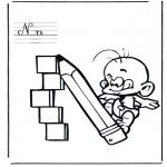 Allerhand Ausmalbilder - Alphabet N