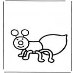 Ausmalbilder Tiere - Ameise