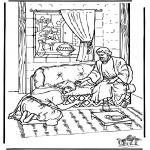Bibel Ausmalbilder - Ananias