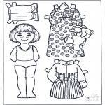 Malvorlagen Basteln - Ankleidpuppe 5