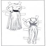 Malvorlagen Basteln - Ankleidpuppe Kleider 1