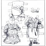 Malvorlagen Basteln - Ankleidpuppe Kleider 2