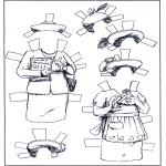Malvorlagen Basteln - Ankleidpuppe Kleider 5