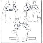 Malvorlagen Basteln - Ankleidpuppe Kleider 6