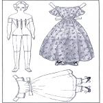 Malvorlagen Basteln - Ankleidpuppe und Kleider 1