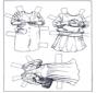 Ankleidpuppe und Kleider 3