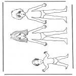 Malvorlagen Basteln - Anziehpuppe Kinder