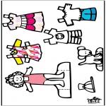 Malvorlagen Basteln - Anziehpuppe und Kleider 3