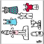 Malvorlagen Basteln - Anziehpuppe und Kleider 4