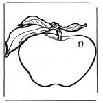 Allerhand Ausmalbilder - Apfel 1