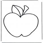 Allerhand Ausmalbilder - Apfel 2