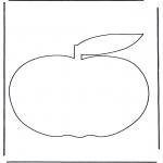 Allerhand Ausmalbilder - Apfel 3