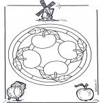 Malvorlagen Mandalas - Apfelmandala