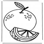 Allerhand Ausmalbilder - Apfelsine