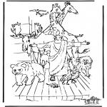 Bibel Ausmalbilder - Arche Noah 3