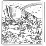 Bibel Ausmalbilder - Arche von Noah 4