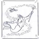 Ausmalbilder Comicfigure - Arielle, die kleine Meerjungfrau 2