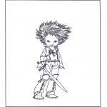 Ausmalbilder Comicfigure - Artus und die Minimoys 3